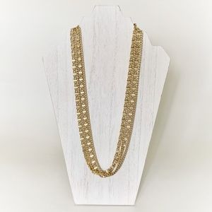 VTG Sarah Coventry Gold Toned Multi Chain Necklace